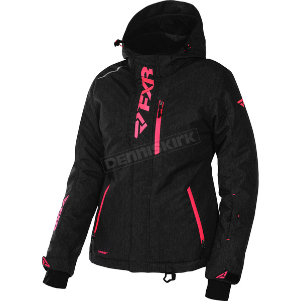 FXR Racing Women's Black Heather/Electric Tangerine Pulse Jacket - 170212-1135-04