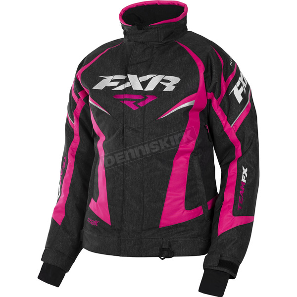 FXR Racing Women's Black Heather/Fuchsia Team Jacket - 170208-1190-12