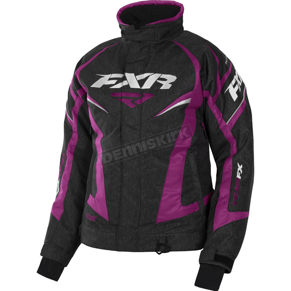 FXR Racing Women's Black Heather/Wineberry Team Jacket - 170208-1185-04