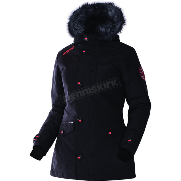 FXR Racing Women's Black Svalbard Parka - 170214-1000-14