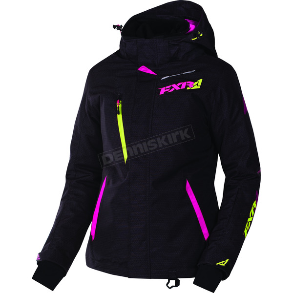 FXR Racing Women's Black Tri/Electric Pink Vertical Pro Jacket - 170202-1194-20