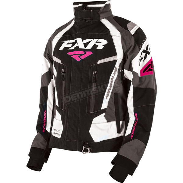 FXR Racing Women's Black/Charcoal/White/Fuchsia Adrenaline Jacket - 170210-1008-08S