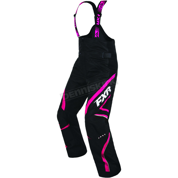 FXR Racing Women's Black/Fuchsia Team Pant - 170301-1090-16