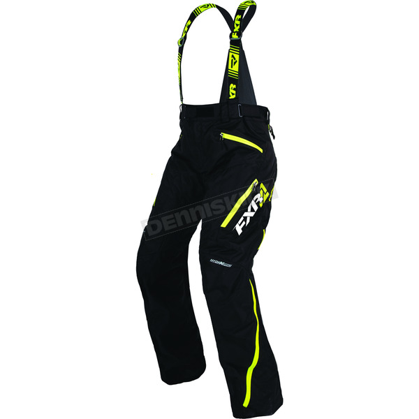 FXR Racing Women's Black/Hi-Vis Vertical Pro Pants - 170304-1065-12