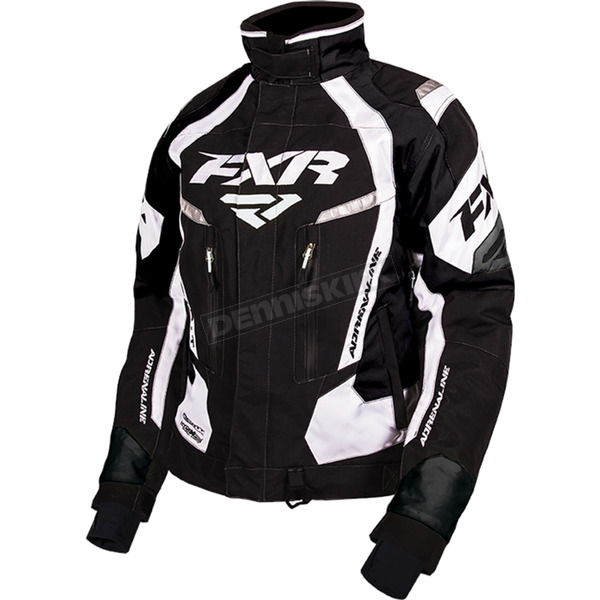 FXR Racing Women's Black/White Adrenaline Jacket - 170210-1001-14