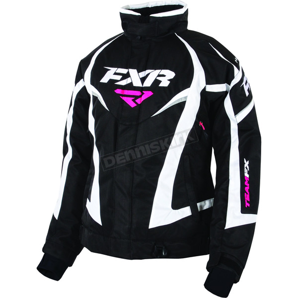 FXR Racing Women's Black/White Team Jacket - 170208-1001-10