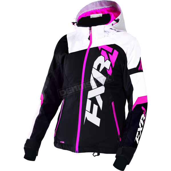 FXR Racing Women's Black/White Tri/Fuchsia Revo X Jacket - 170216-1001-04