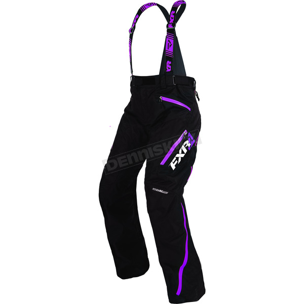 FXR Racing Women's Black/Wineberry Vertical Pro Pants - 170304-1085-10