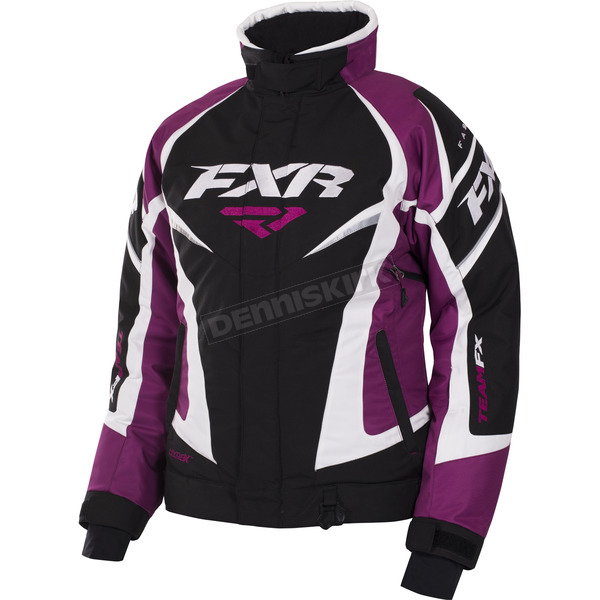 FXR Racing Women's Black/Wineberry/White Tri Team Jacket - 170208-1085-04