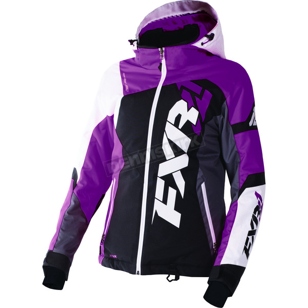 FXR Racing Women's Black/Wineberry/White Tri Revo X Jacket - 170216-1085-04