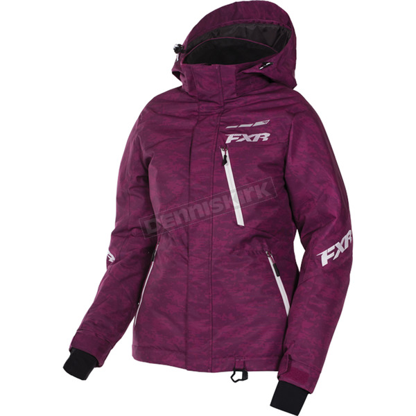 FXR Racing Women's Wineberry Digi/White Fresh Jacket - 170207-8601-16
