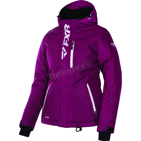 FXR Racing Women's Wineberry Heather/White Pulse Jacket - 170212-8601-10