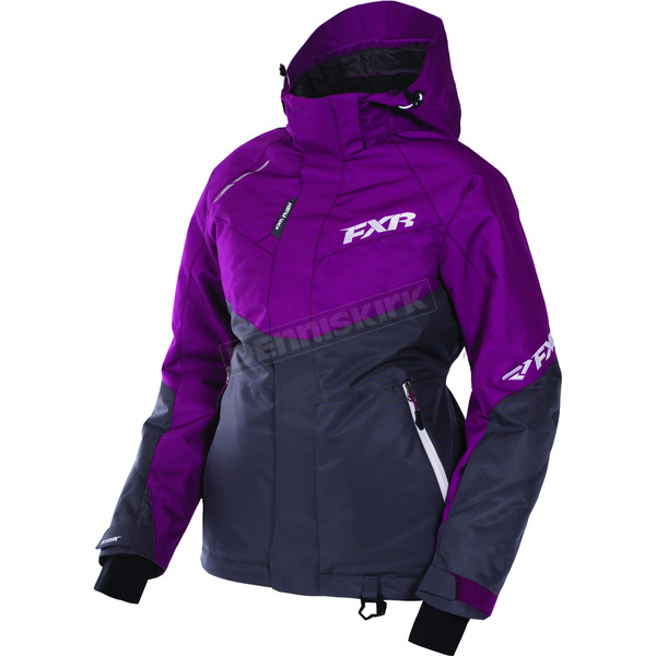 FXR Racing Women's Wineberry/Charcoal Rush Jacket - 170209-8508-10
