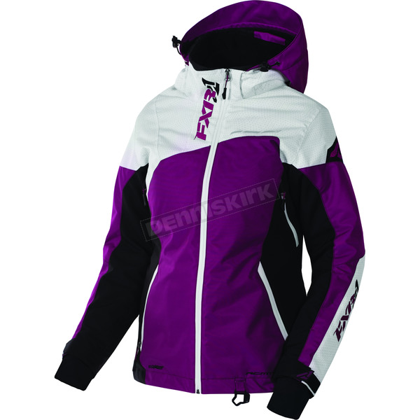 FXR Racing Women's Wineberry/White Tri/Black Vertical Edge Jacket - 170211-8502-06