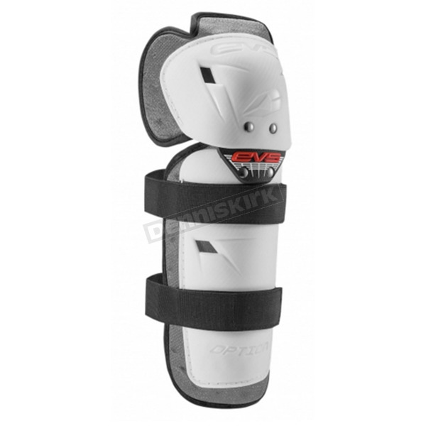 EVS Sports White Option Knee Guards - OPTK16-W-A
