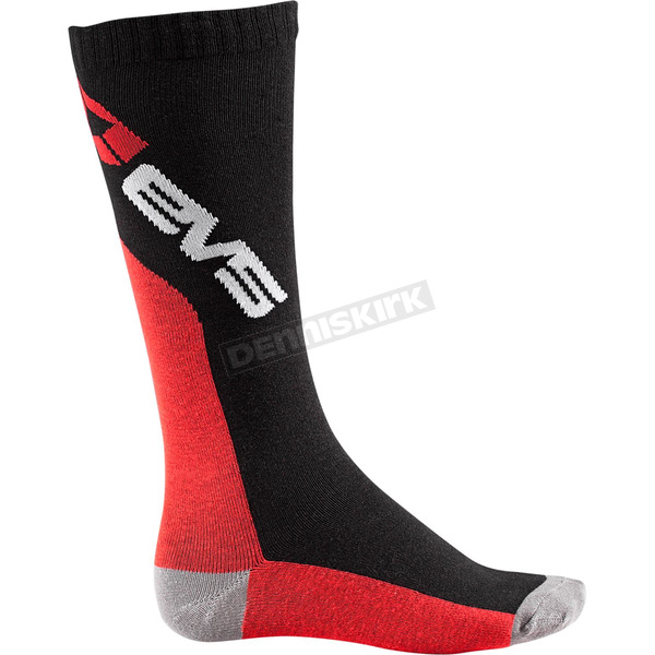 EVS Sports Black/Red Moto Socks - M-SOCK-L/XL