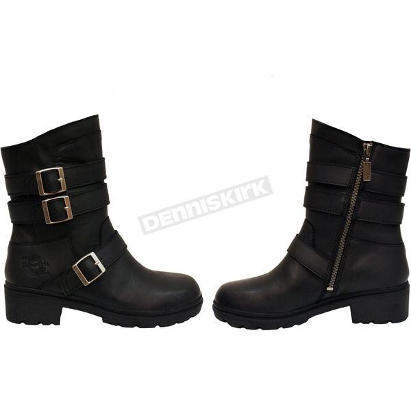 Milwaukee Motorcycle Clothing Co. Women's Black Cameo Boots - MB25316