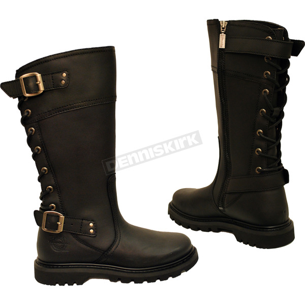 Milwaukee Motorcycle Clothing Co. Women's Black Dreamgirl Boots - MB25519