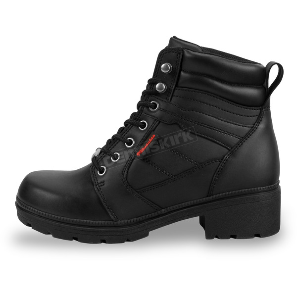 Milwaukee Motorcycle Clothing Co. Women's Black Rally Boots - MB24615