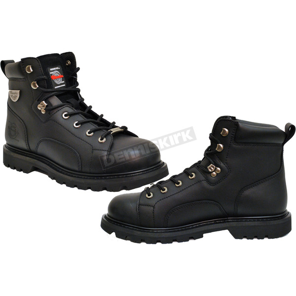 Milwaukee Motorcycle Clothing Co. Black Nightrider Boots - MB45622