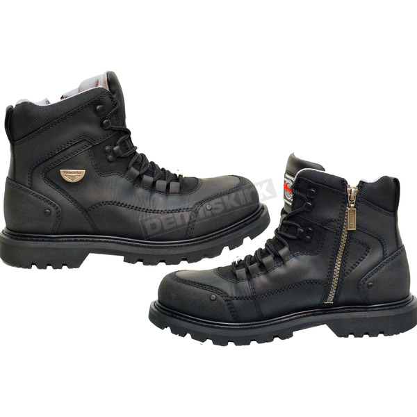 Milwaukee Motorcycle Clothing Co. Black Explorer Boots - MB45817