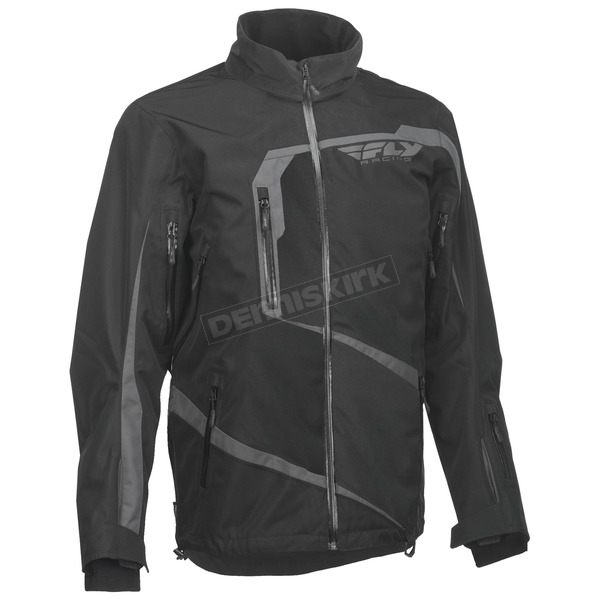 Fly Racing Black/Gray Carbon Jacket - 470-4030X