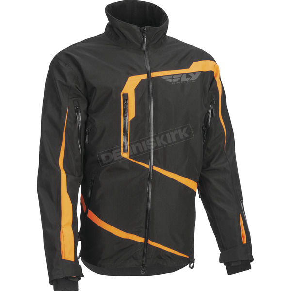 Fly Racing Black/Orange Carbon Jacket - 470-4038L