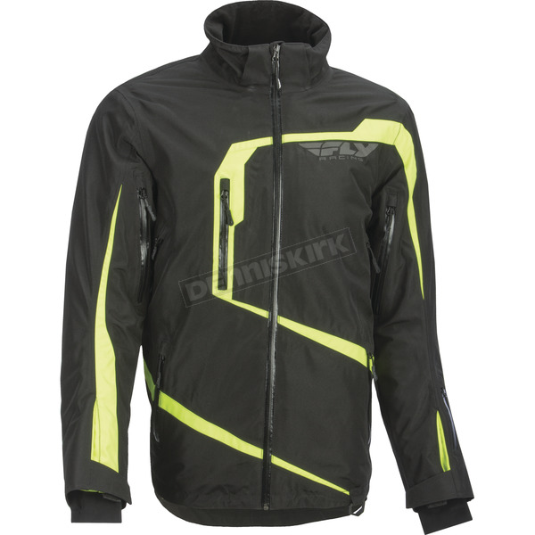 Fly Racing Black/Hi-Viz Carbon Jacket - 470-4039M