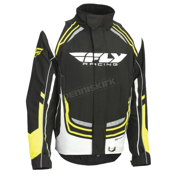 Fly Racing Youth Black/White/Hi-Vis SNX Pro Jacket - 470-4024YM
