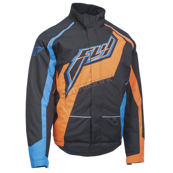 Fly Racing Black/Orange/Blue Outpost Jacket - 470-4018S