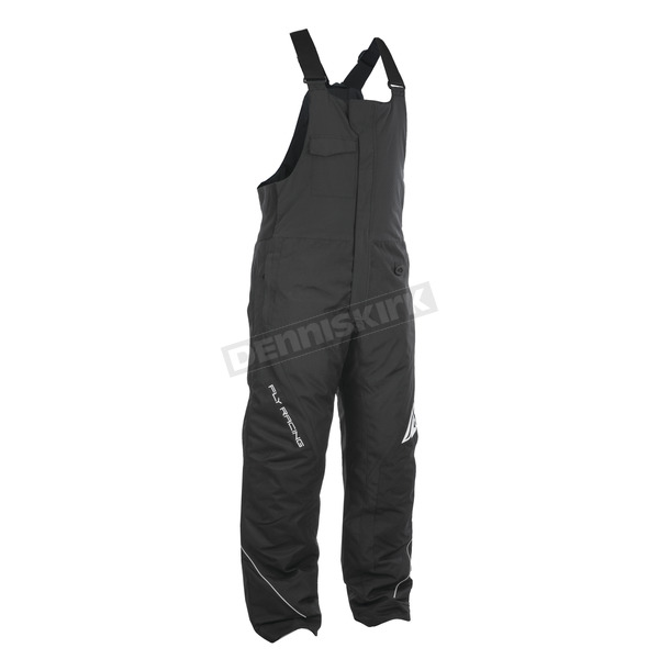 Fly Racing Black/Gray Outpost Bibs - 470-4210L