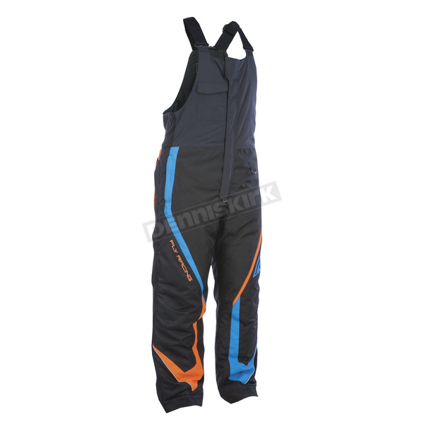 Fly Racing Black/Orange/Blue Outpost Bibs - 470-4218L