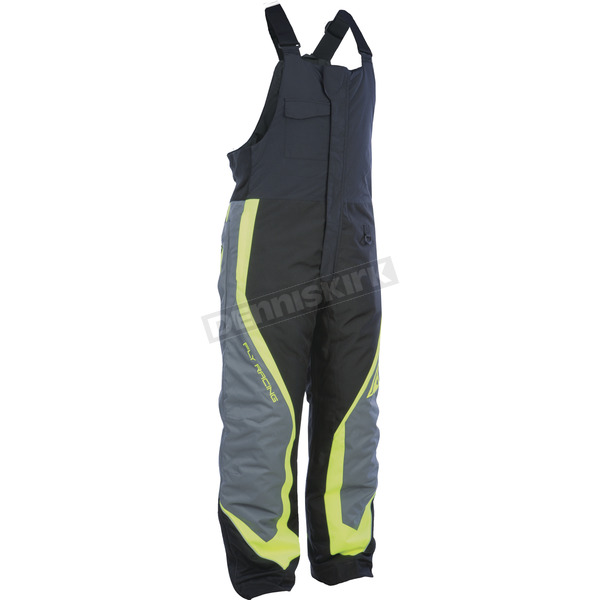 Fly Racing Black/Gray/Hi-Vis Outpost Bibs - 470-4219X