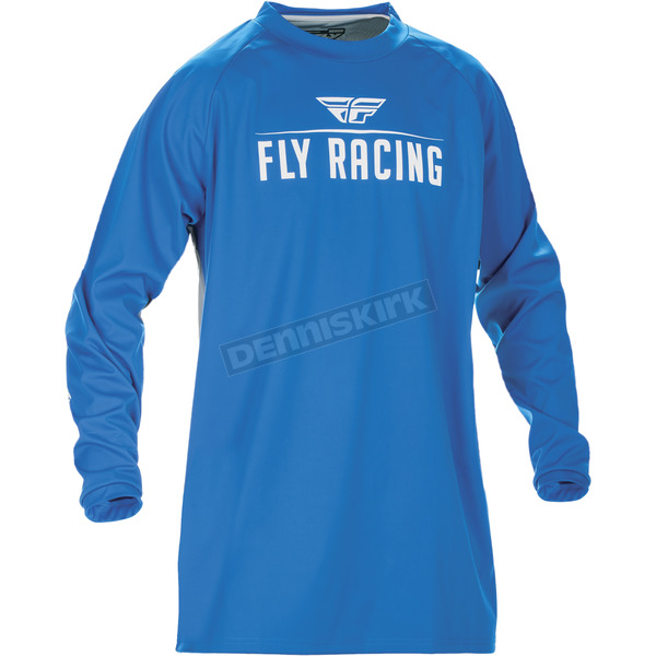 Fly Racing Blue Windproof Technical Jersey - 370-801M