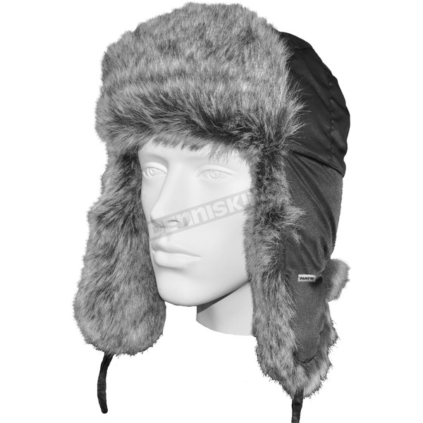 Nat's Black Aviator Beanie - H200-N-04-L