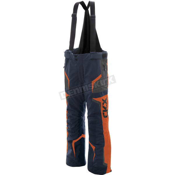 CKX Navy/Orange/Charcoal Rush Racing Snow Pants - M17404_NAVYOG_2XL