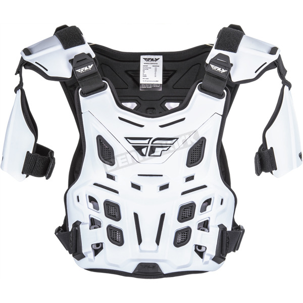 Fly Racing White Revel Offroad  Roost Guard - 36-16044