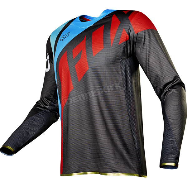 Fox Gray/Red Flexair Seca Jersey - 17239-037-XL