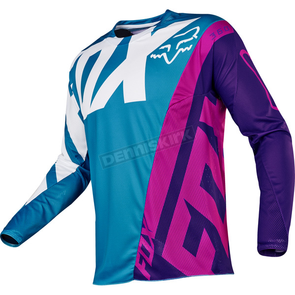 Fox Youth Teal 360 Creo Jersey - 17251-176-XL