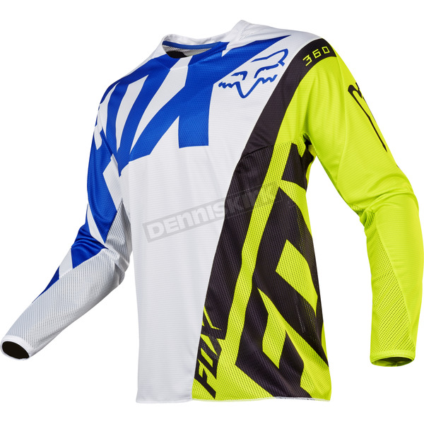 Fox Youth White/Yellow 360 Creo Jersey - 17251-214-XL