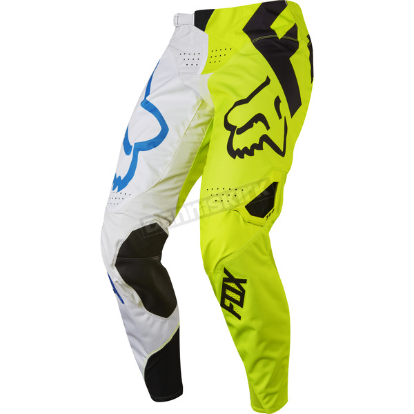 Fox White/Yellow 360 Creo Pants - 17246-214-32