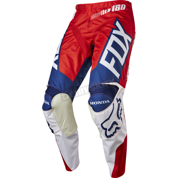 Fox Red/White 180 Honda Pants - 17264-054-36