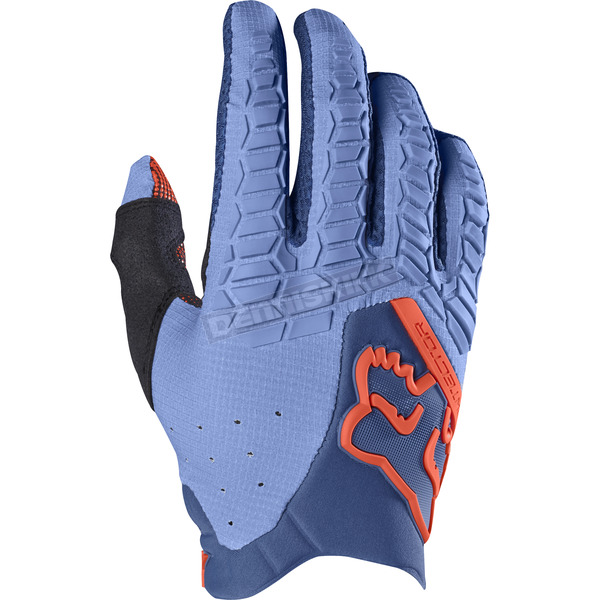 Fox Light Blue Pawtector Gloves - 17286-116-2X