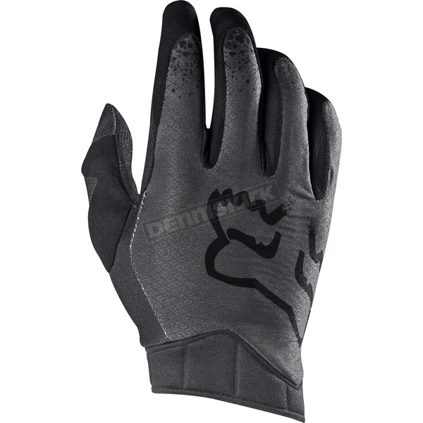 Fox Black/Gray Airline Moth Gloves - 17287-014-M