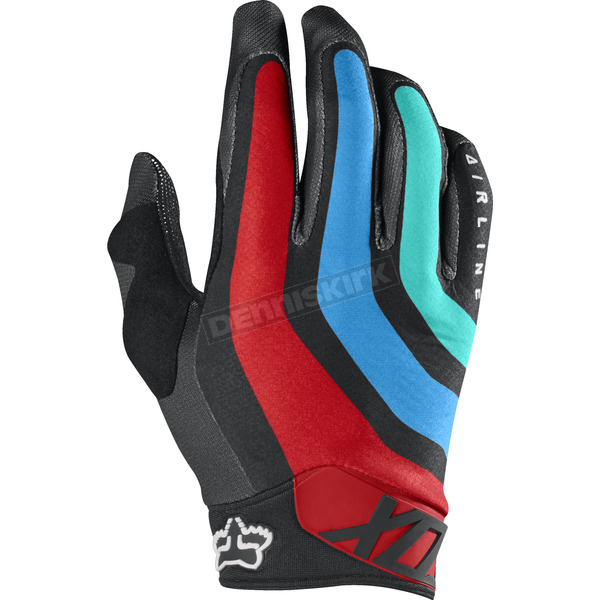 Fox Gray/Red Airline Seca Gloves - 17288-037-XL