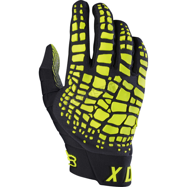 Fox Black/Yellow 360 Grav Gloves - 17289-019-2X