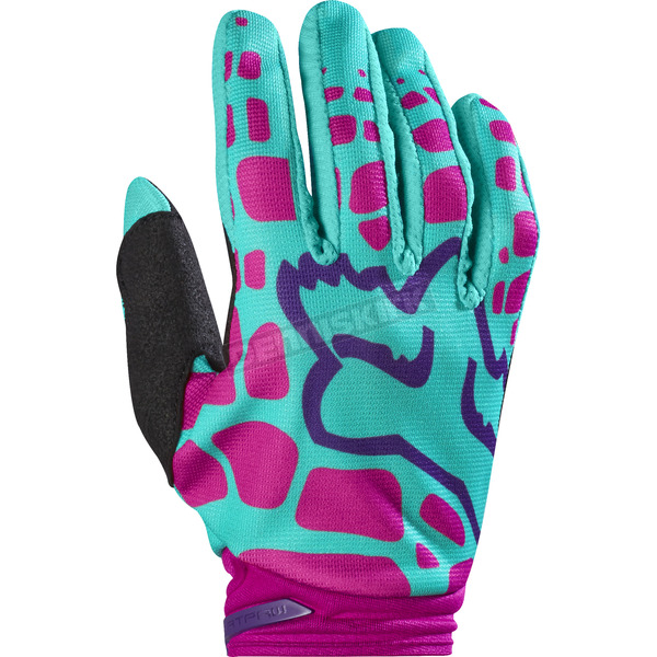 Fox Youth Girls Purple/Pink Dirtpaw Gloves - 17298-533-L