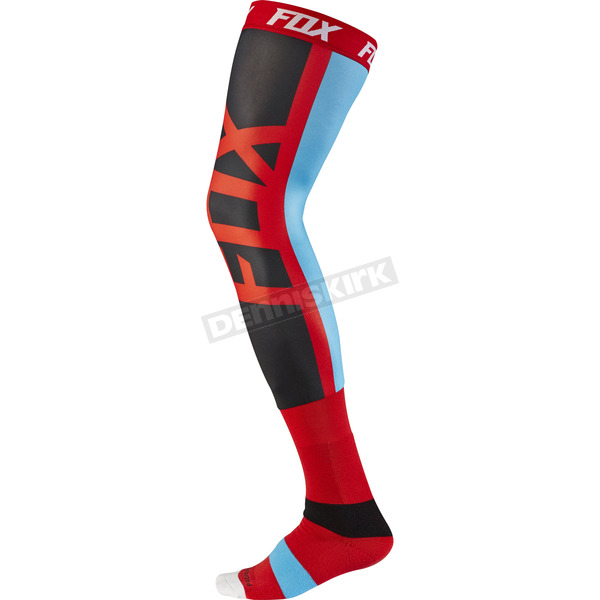 Fox Red Seca Knee Brace Socks - 17866-003-M