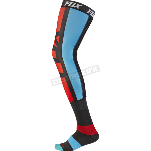 Fox Gray/Red Seca Knee Brace Socks - 17866-037-M