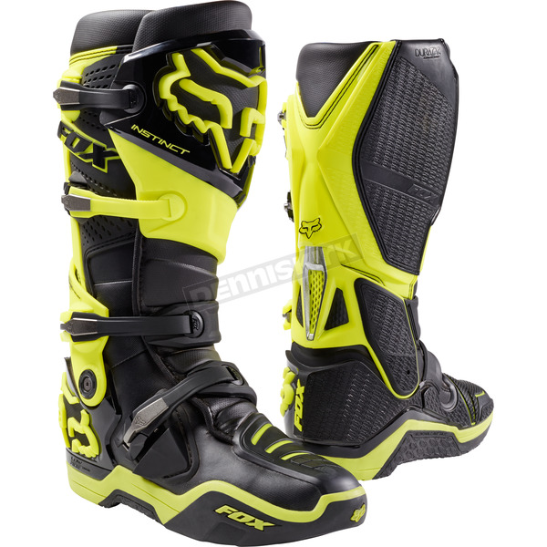Fox Black/Yellow Instinct Boots - 12252-019-12